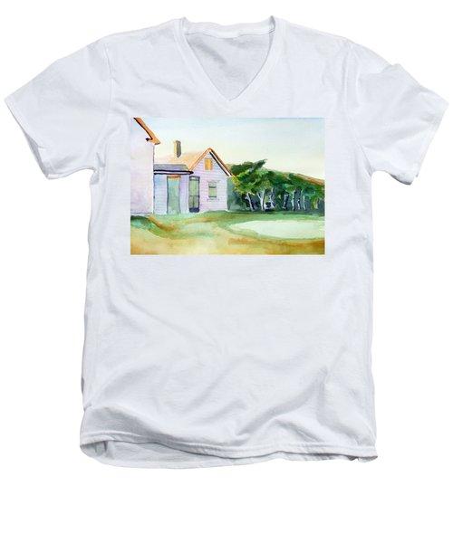 Cobb's House After Edward Hopper Men's V-Neck T-Shirt