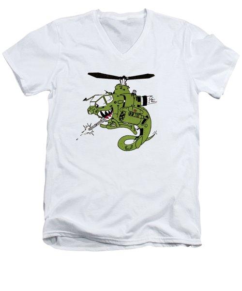 Cobra Men's V-Neck T-Shirt by Julio Lopez