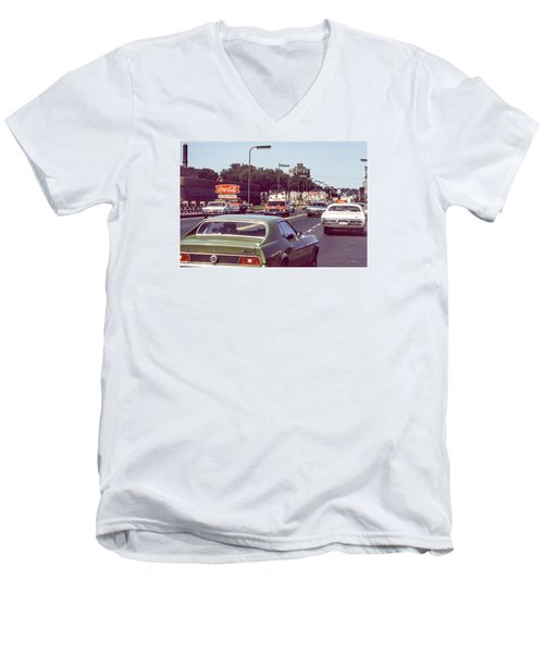 Coca Cola Plant On Central Ave Men's V-Neck T-Shirt
