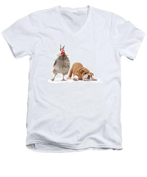 Cock N Bull Men's V-Neck T-Shirt