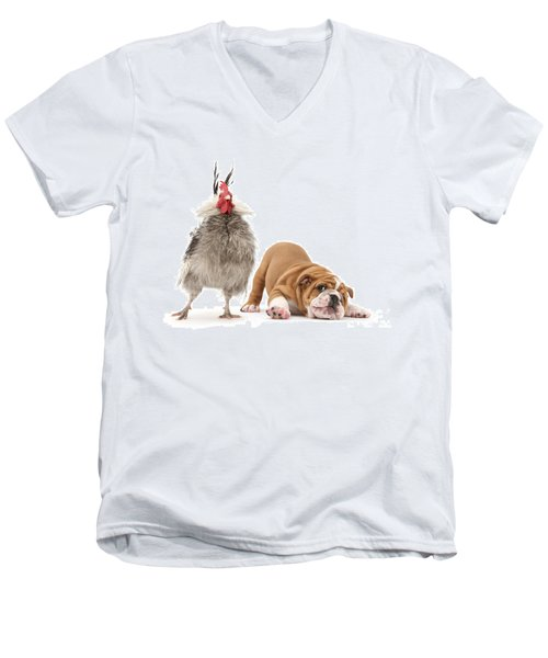 Cock N Bull Men's V-Neck T-Shirt