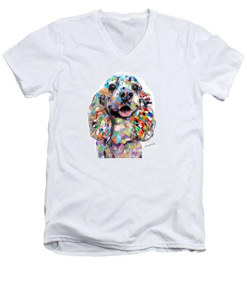 Cocker Spaniel Head Men's V-Neck T-Shirt