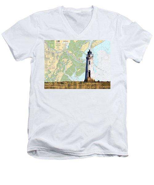 Cockspur On Navigation Chart Men's V-Neck T-Shirt