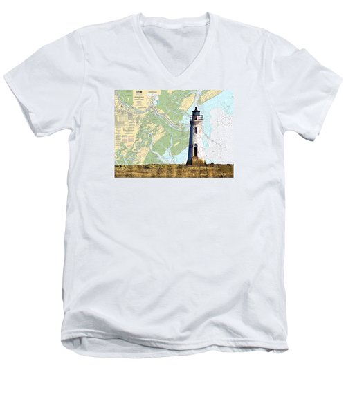 Cockspur On Navigation Chart Men's V-Neck T-Shirt