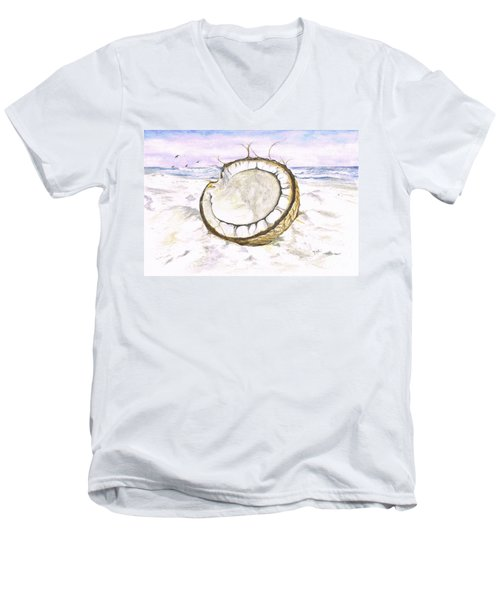 Coconut Island Men's V-Neck T-Shirt by Teresa White
