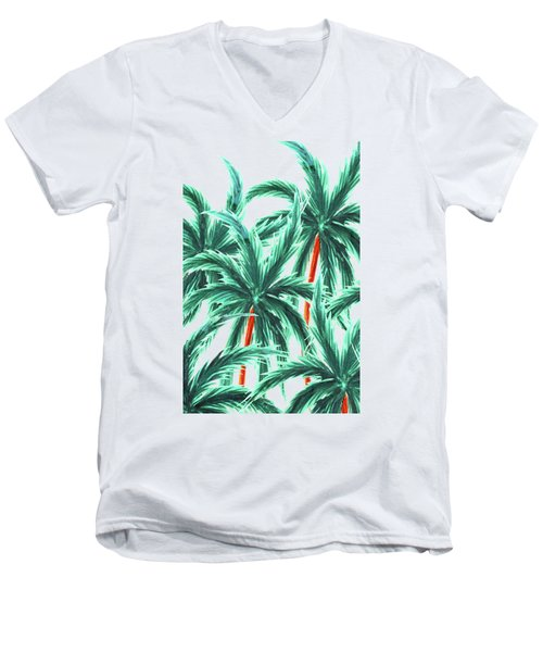 Coconut Trees Men's V-Neck T-Shirt by Uma Gokhale