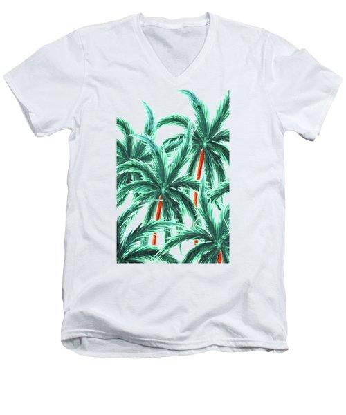 Coconut Trees Men's V-Neck T-Shirt