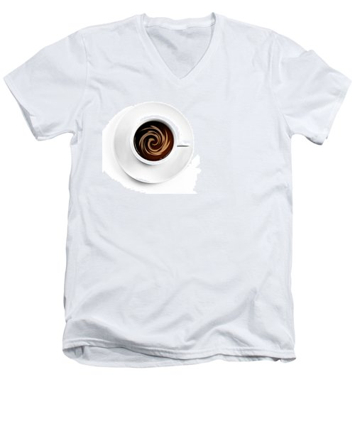 Men's V-Neck T-Shirt featuring the photograph Coffee And Cream by Gert Lavsen