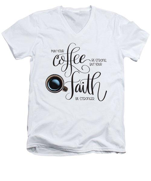 Coffee And Faith Men's V-Neck T-Shirt