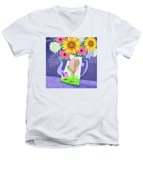 Coffee Pot Surprise Men's V-Neck T-Shirt