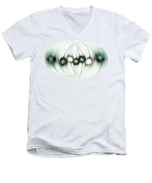 Men's V-Neck T-Shirt featuring the digital art Cognitive Consistency by Anastasiya Malakhova