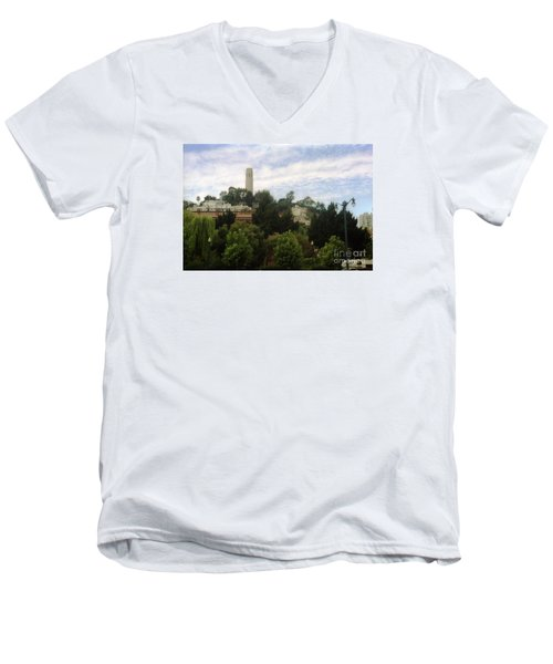 coit Tower San Francisco Men's V-Neck T-Shirt