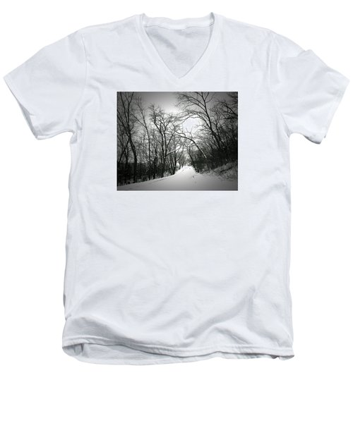 Cold Black Road Men's V-Neck T-Shirt