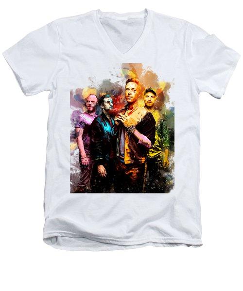 Coldplay Men's V-Neck T-Shirt by Rinaldo Ananta