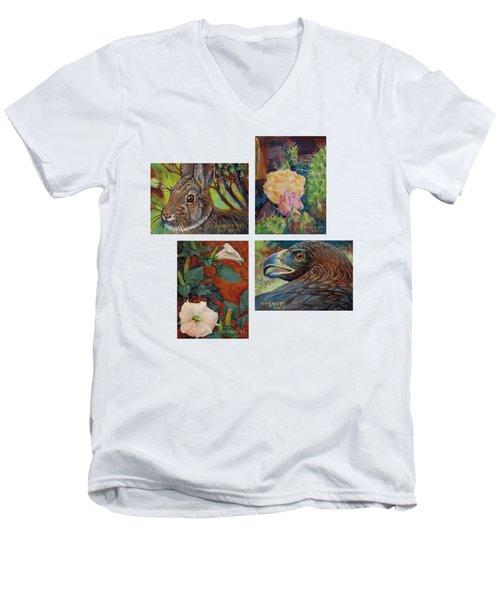 collection of 4 Desert minatures Men's V-Neck T-Shirt