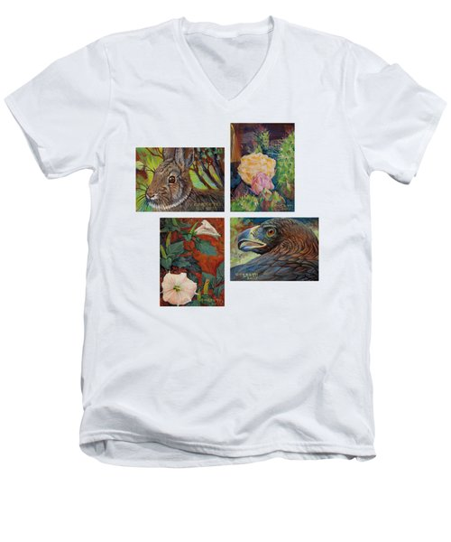collection of 4 Desert minatures Men's V-Neck T-Shirt
