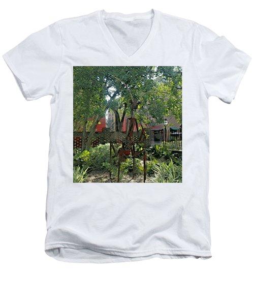 College Creature Men's V-Neck T-Shirt