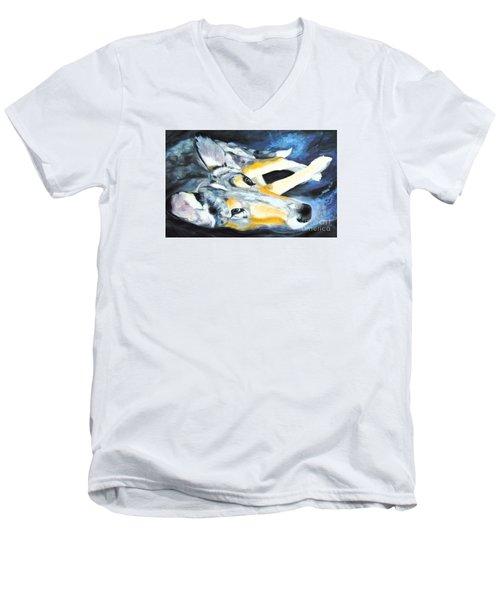 Collie Merle Smooth Men's V-Neck T-Shirt