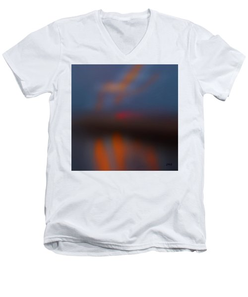 Color Abstraction Lxiii Sq Men's V-Neck T-Shirt