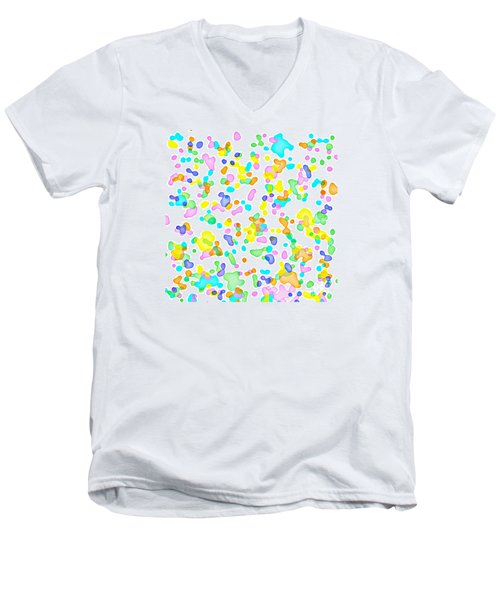 Color Blots Men's V-Neck T-Shirt