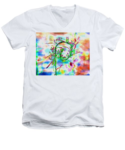 Color Curl Men's V-Neck T-Shirt