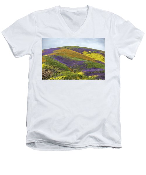 Men's V-Neck T-Shirt featuring the photograph Color Mountain I by Peter Tellone