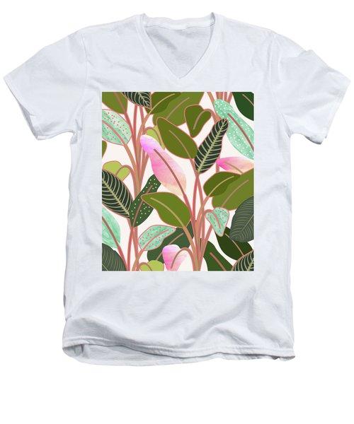 Color Paradise Men's V-Neck T-Shirt