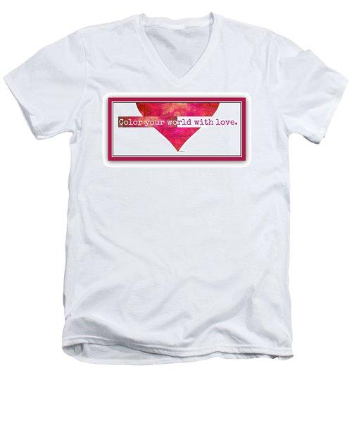 Color Your World 2 Men's V-Neck T-Shirt