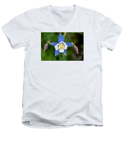 Colorado Blue Men's V-Neck T-Shirt by Sandy Molinaro