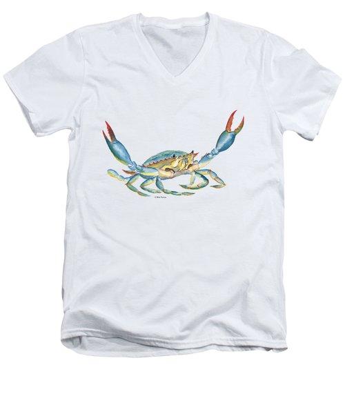 Colorful Blue Crab Men's V-Neck T-Shirt
