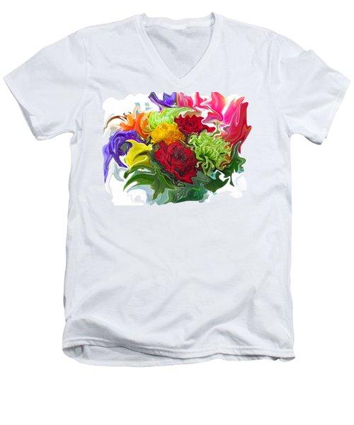 Colorful Bouquet Men's V-Neck T-Shirt