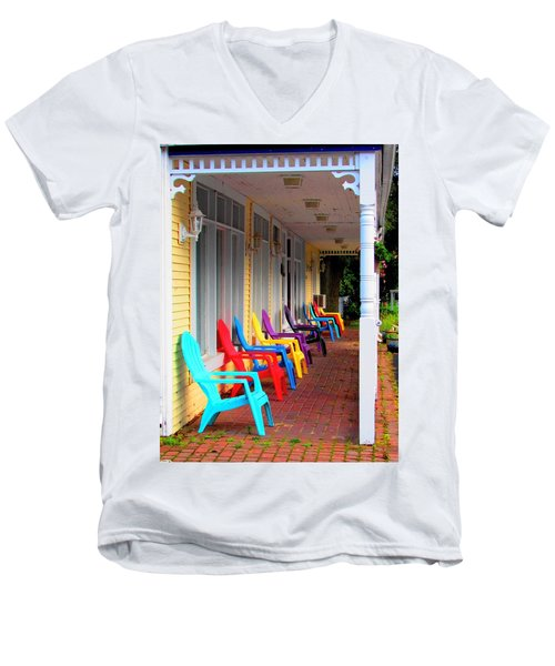 Colorful Chairs Men's V-Neck T-Shirt