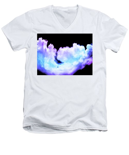 Colorful Clouds Men's V-Neck T-Shirt