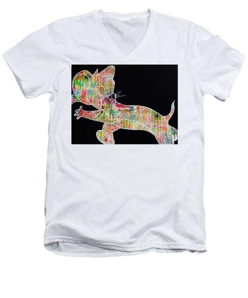 Colorful Men's V-Neck T-Shirt