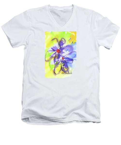 Colorful Flower Men's V-Neck T-Shirt