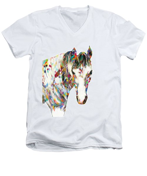 Colorful Horse Men's V-Neck T-Shirt