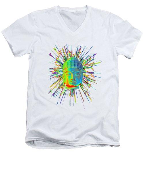 colorful Korean sparkle Men's V-Neck T-Shirt