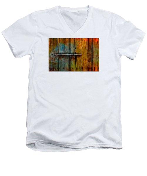Colorful Lock Men's V-Neck T-Shirt