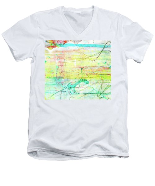 Colorful Pastel Art - Mixed Media Abstract Painting Men's V-Neck T-Shirt