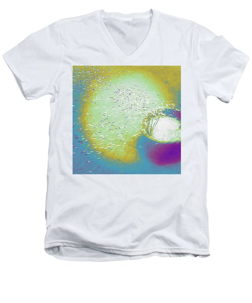 Colorful Pond Men's V-Neck T-Shirt