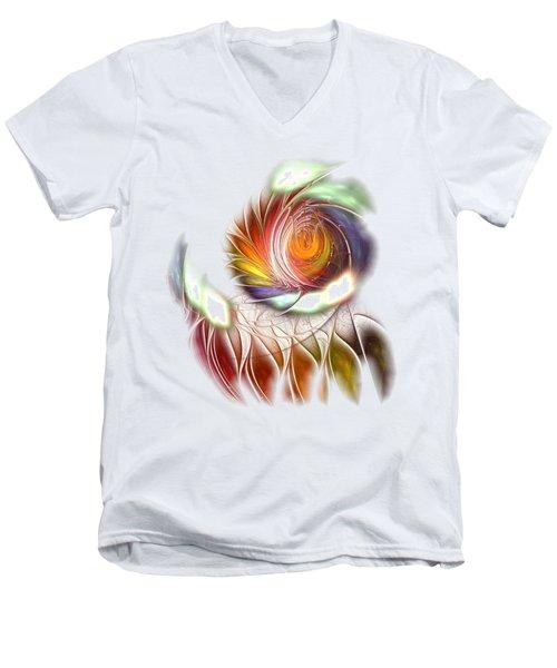 Colorful Promenade Men's V-Neck T-Shirt