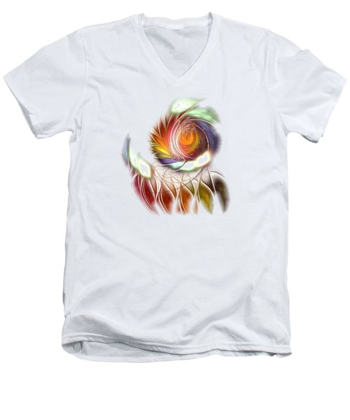 Colorful Promenade Men's V-Neck T-Shirt