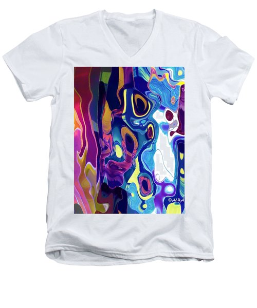 Colorinsky Men's V-Neck T-Shirt by Alika Kumar