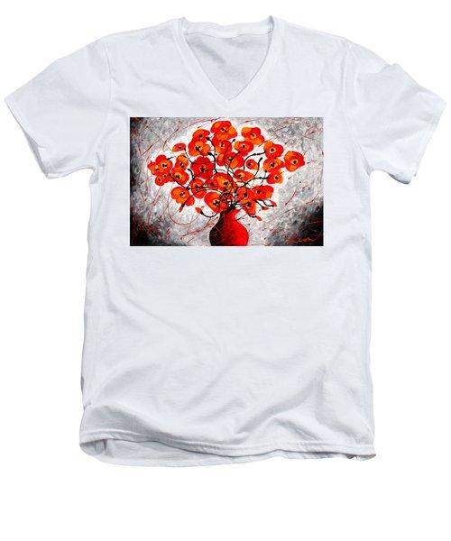 Colors Of Love Men's V-Neck T-Shirt by Leon Zernitsky