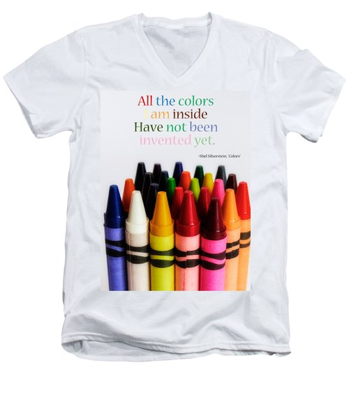Men's V-Neck T-Shirt featuring the photograph Colors Of Me by Julia Wilcox