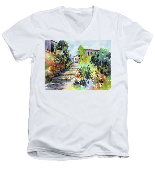 Colors Of Spain Men's V-Neck T-Shirt by Rae Andrews