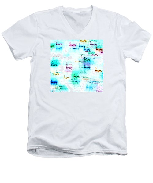 Colour Light Abstraction Invert Men's V-Neck T-Shirt