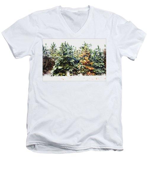 Coloured Trees  Men's V-Neck T-Shirt