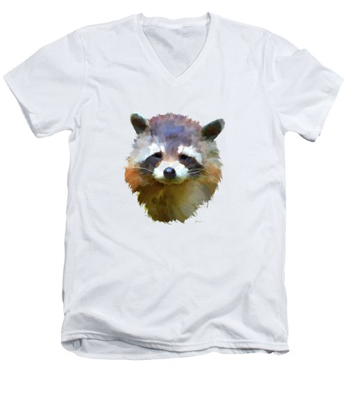 Colourful Raccoon Men's V-Neck T-Shirt by Bamalam  Photography