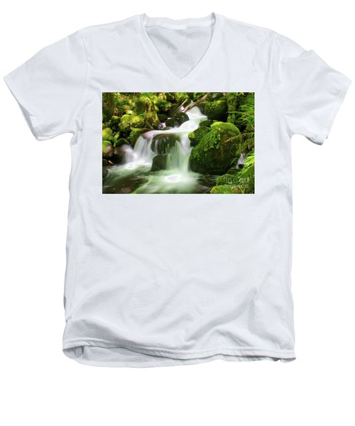 Columbia Gorge Stream Men's V-Neck T-Shirt